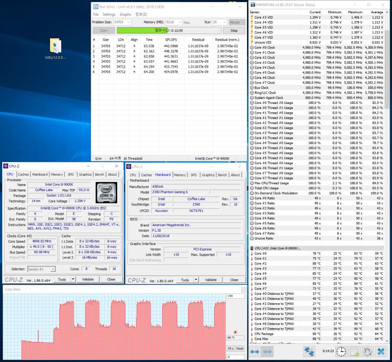 Разгон Core i9-9900K (NZXT Kraken X62)