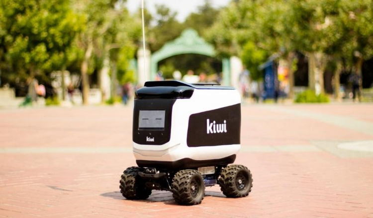 """Робот-доставщик загорелся в кампусе Калифорнийского университета"""""""
