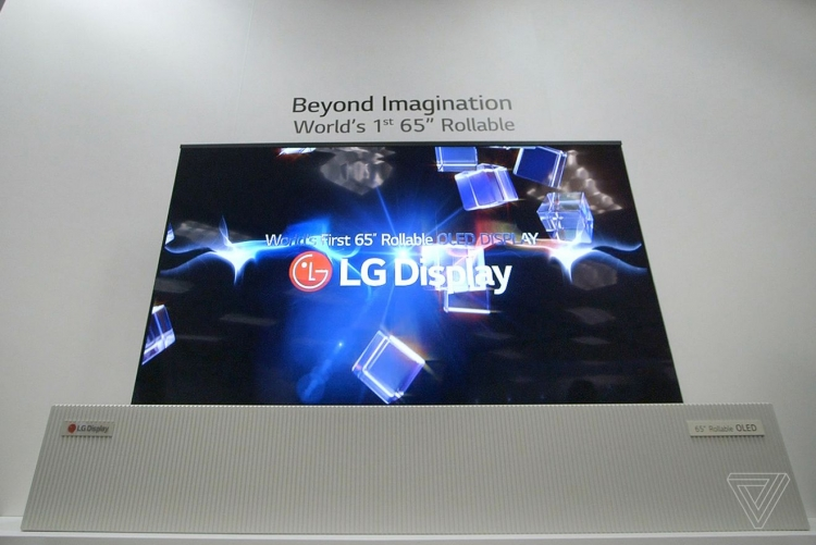 """Телевизор LG с разворачиваемым экраном станет реальным продуктом в 2019 году"""""""