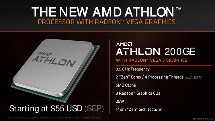 Heavy chains will fall: AMD Athlon 200GE has become the most cheap