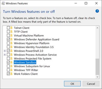 """ВWindows 10 появится встроенная«песочница»"""""""