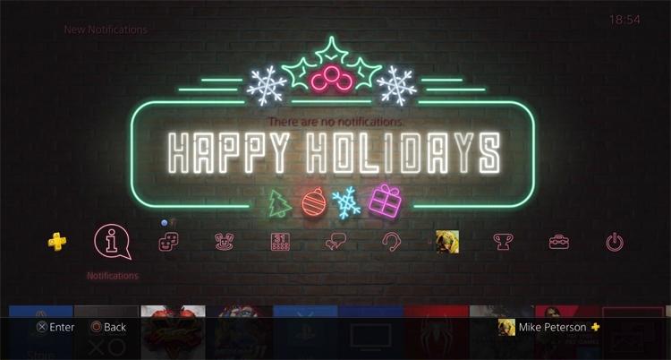 Праздничная PS-тема намекает на разработку PlayStation 5