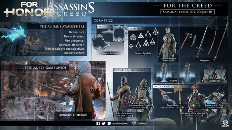 """Сегодня в For Honor стартовал кроссовер с серией Assassin's Creed"""""""
