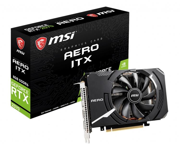 """Видеокарта MSI GeForce RTX 2070 Aero ITX 8G подходит для компактных систем"""""""