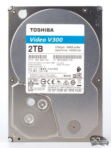 Обзор жестких дисков Toshiba S300 (10 Тбайт) и V300 (2 Тбайт)