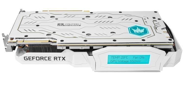 """Видеокарта KFA2 GeForce RTX 2080 Ti HOF оснащена информационным дисплеем"""""""