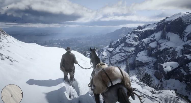 """Видео: игрок исследовал недоступную снежную локацию в Red Dead Redemption 2"""""""