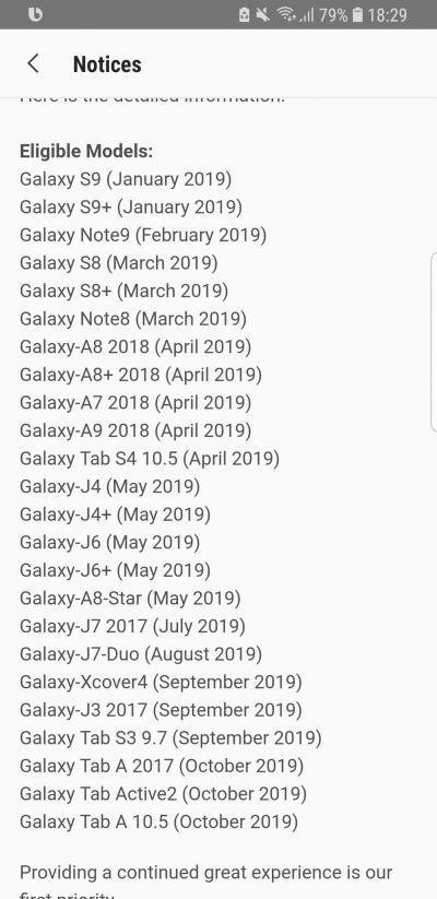 """Samsung опубликовала полный план обновления своих устройств до Android 9 Pie"""""""