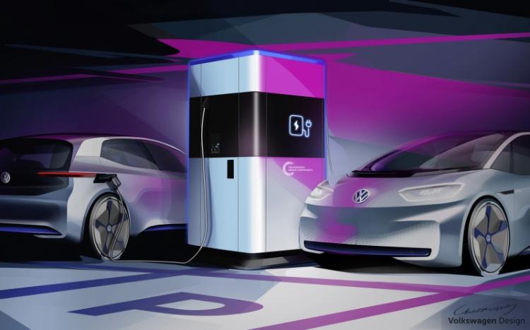 """Volkswagen показала мобильную станцию для быстрой зарядки"""""""