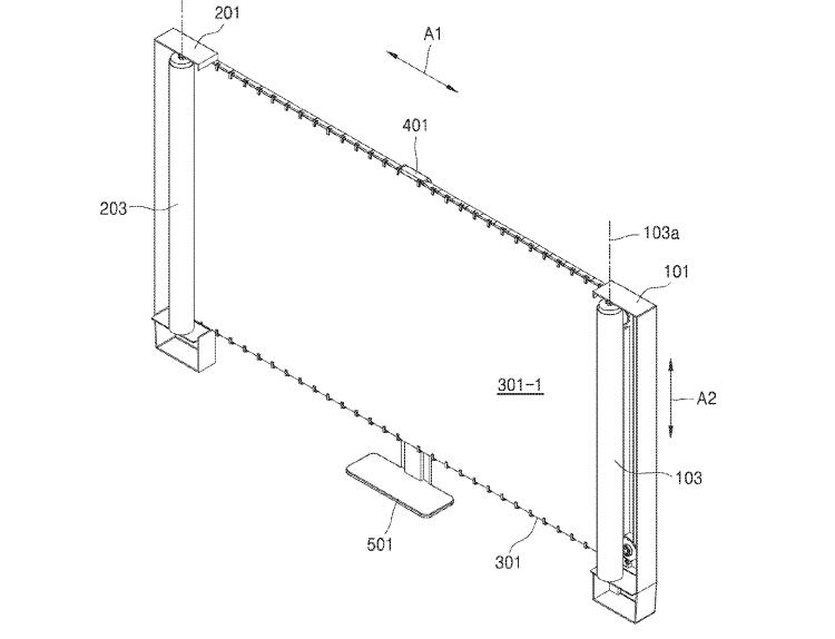 """В Samsung запатентован телевизор со скручивающимся экраном"""""""
