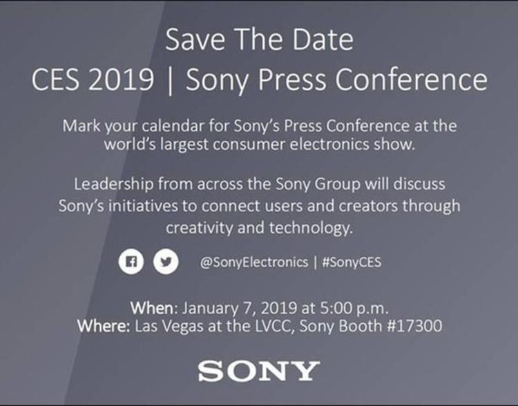 """CES 2019: Sony представит новые смартфоны 7 января"""""""