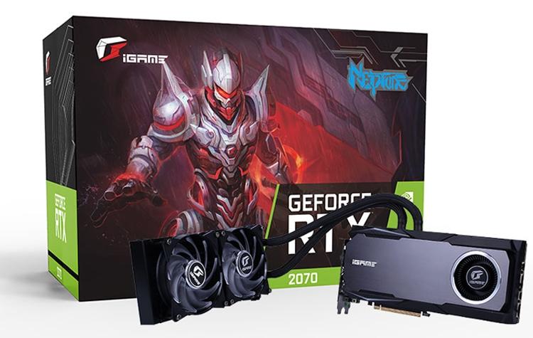 """Ускоритель Colorful iGame GeForce RTX 2070 Neptune OC получил жидкостное охлаждение"""""""