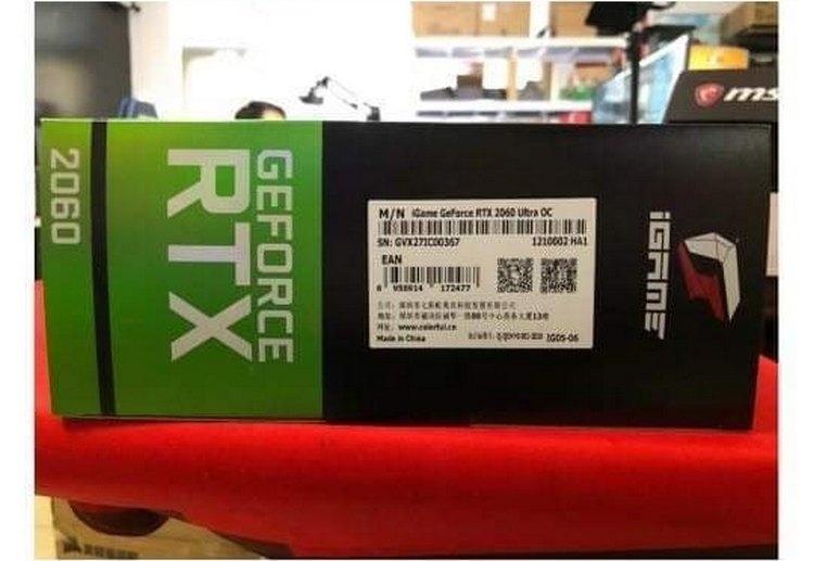 """Фотографии упаковки GeForce RTX 2060 в исполнении Colorful"""""""