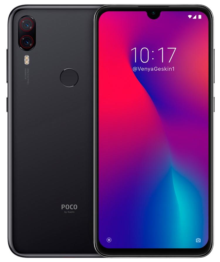 "Смартфон Xiaomi Pocophone F2 предстал на концепт-рендере"""