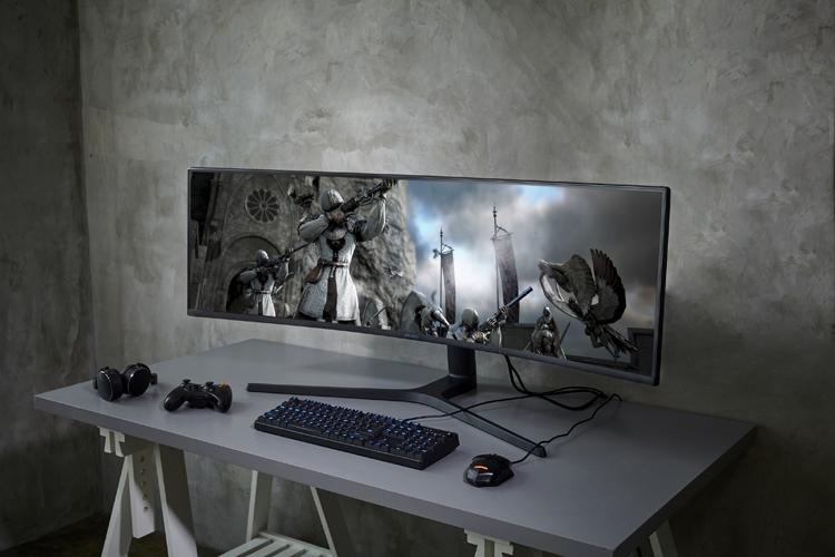 """CES 2019: Гигантский игровой монитор Samsung CRG9 с соотношением сторон 32:9"""""""