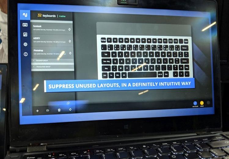 CES 2019: Клавиатура Nemeio с кнопками-дисплеями на электронной бумаге