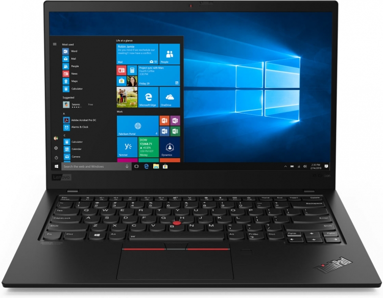 CES 2019: Lenovo представила усовершенствованный ноутбук ThinkPad X1 Carbon изображение