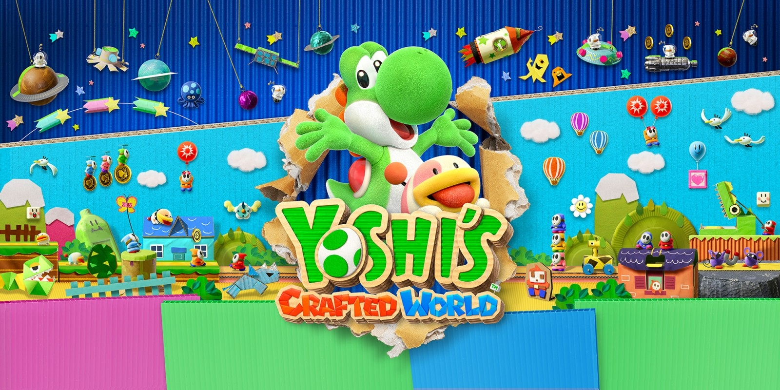Видео: Yoshi's Crafted World для Nintendo Switch выйдет 29 марта
