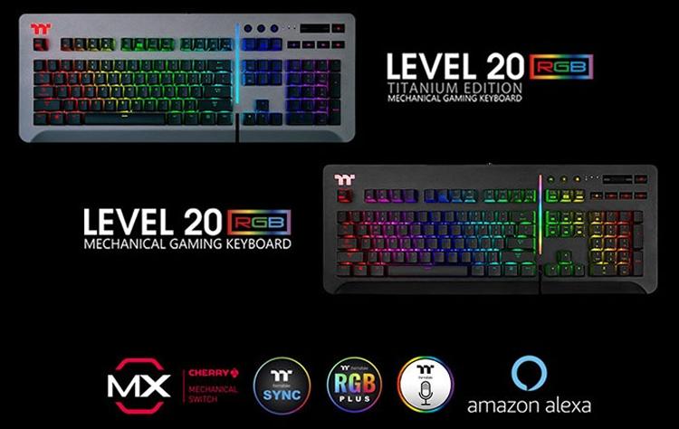 """CES 2019: Игровая клавиатура Thermaltake Level 20 RGB с переключателями Cherry MX или Razer"""""""
