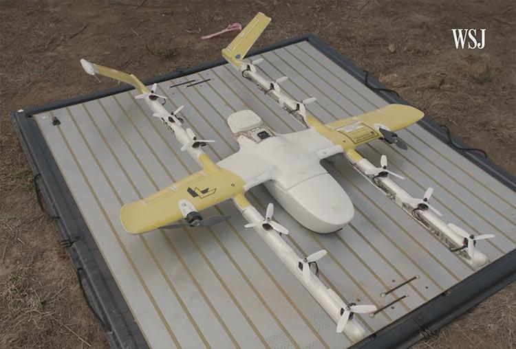 """Видео: тестирование доставки кофе дронами Google в Австралии вызвало протесты местных"""""""