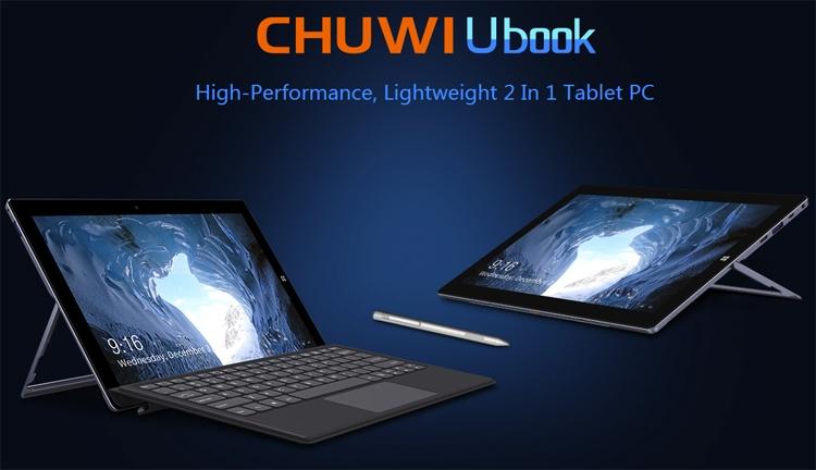 """Гибридный планшет Chuwi Ubook оснащён SSD-модулем ёмкостью до 1 Тбайт"""""""