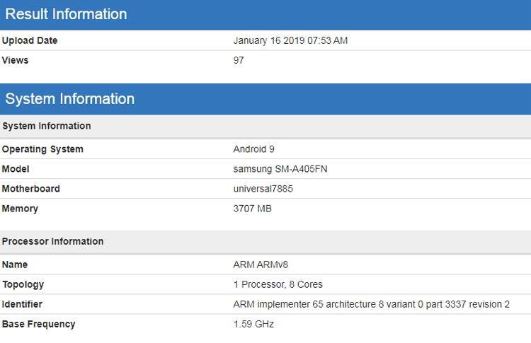 """Выход смартфона Samsung Galaxy A60 с «дырявым» экраном ожидается в апреле"""""""