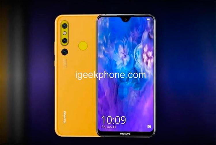 """Huawei Nova 4E вместо отверстия в дисплее получит каплевидный вырез"""""""