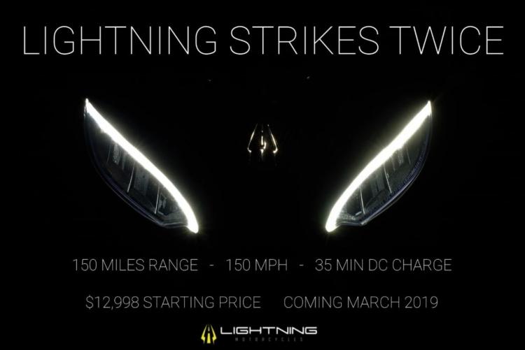 Электромотоцикл Lightning Strike с ценой $13 000 развивает скорость 241 км