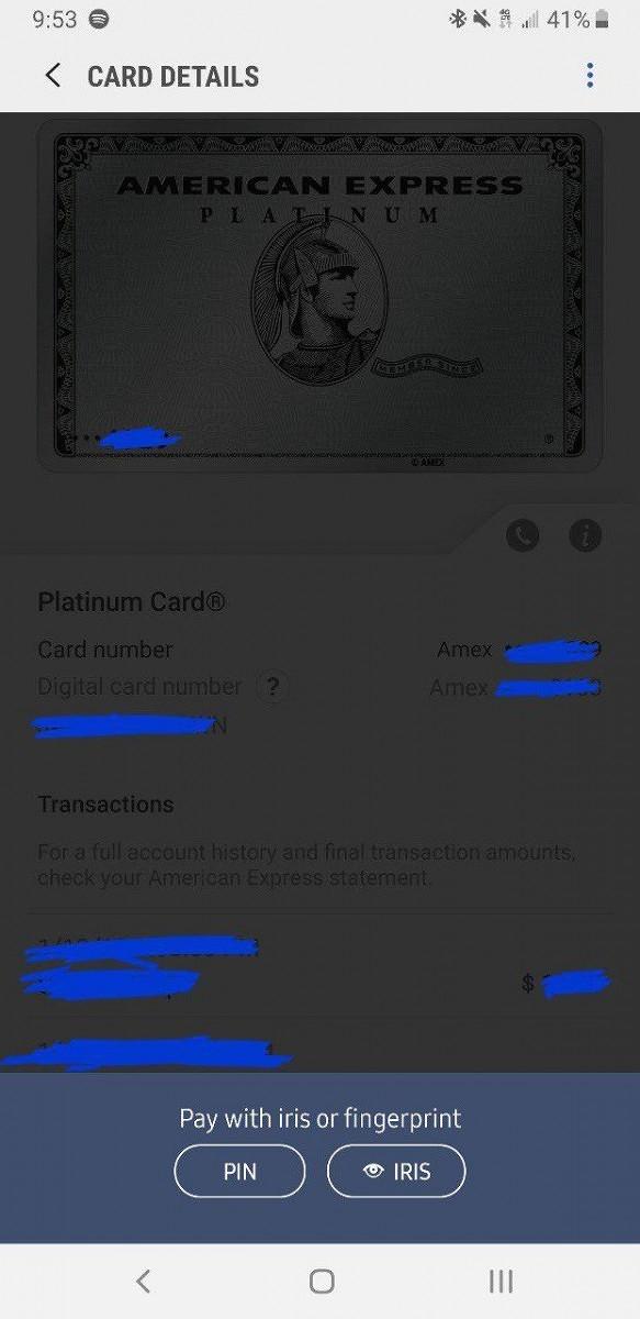 Скриншот окна с информацией о платеже на современном Galaxy S9 — места для сканирования отпечатка внизу явно мало
