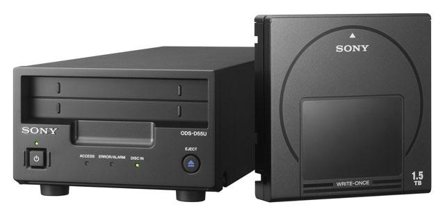Привод и картридж с оптическими дисками Sony Optical Archive