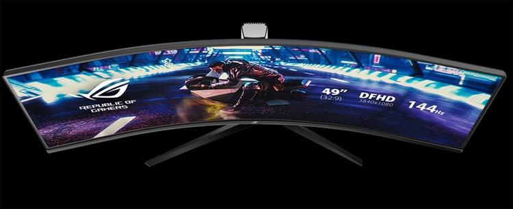 """Игровой монитор ASUS ROG Strix XG49VQ заменяет две 27-дюймовые панели"""""""