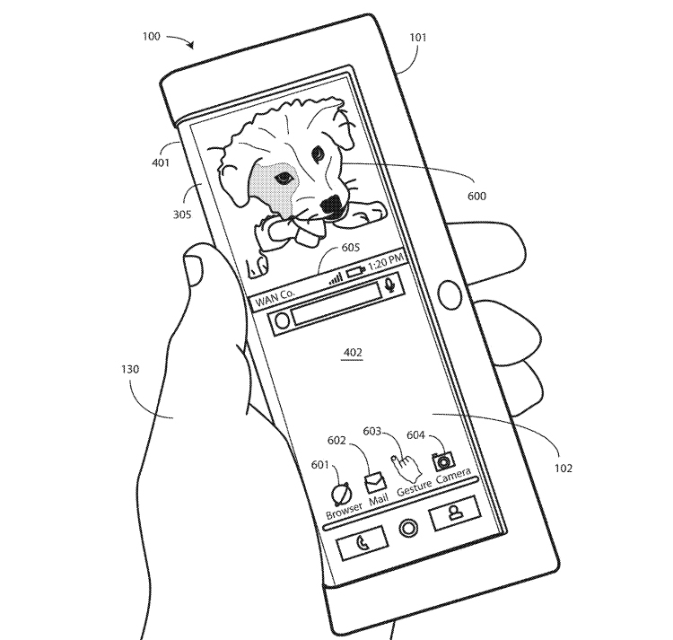 "Патентная документация проливает свет на гибкий смартфон Motorola"""