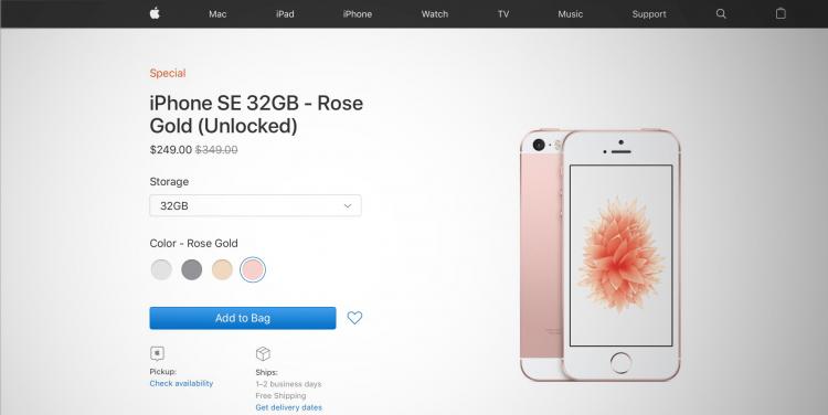 """Apple вновь пополнила запасы iPhone SE на сайте распродажи, доступны все модели"""""""