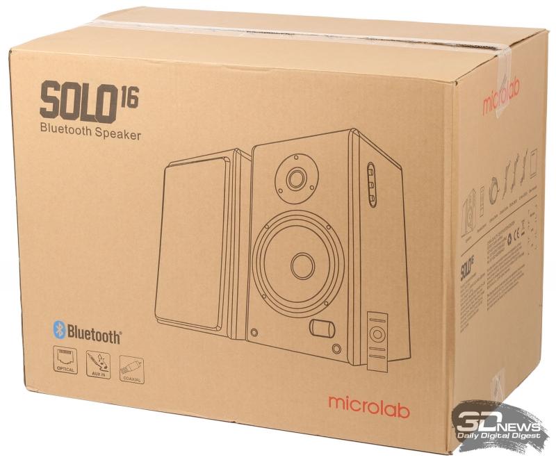 Упаковка акустической системы Microlab Solo 16