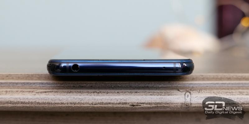 Vivo NEX Dual Display, верхняя грань: мини-джек (3,5 мм) для наушников/гарнитуры и микрофон
