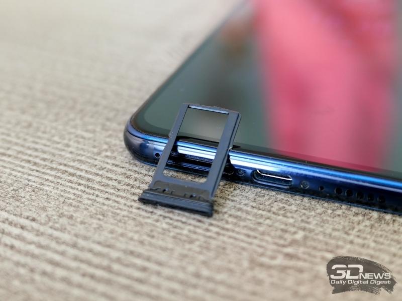 Vivo NEX Dual Display, слот для двух карт стандарта nano-SIM