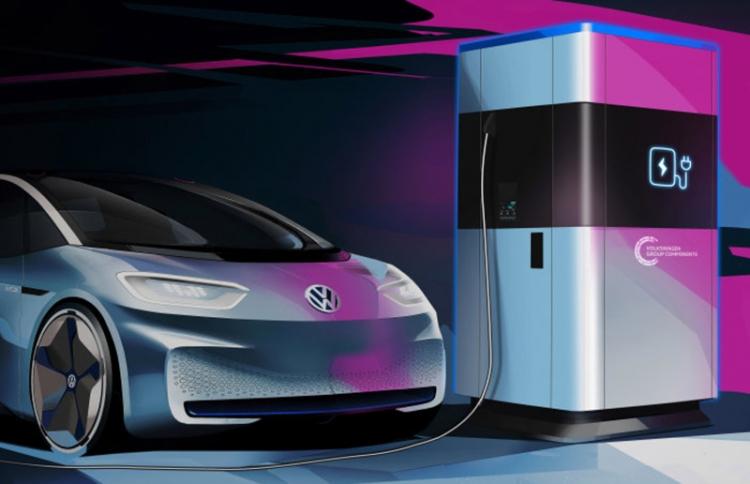 """Volkswagen запустит производство мобильных зарядных станций для электромобилей"""""""