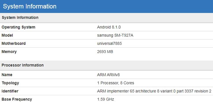 """Планшет-гигант Samsung Galaxy View 2 «засветился» в бенчмарке"""""""