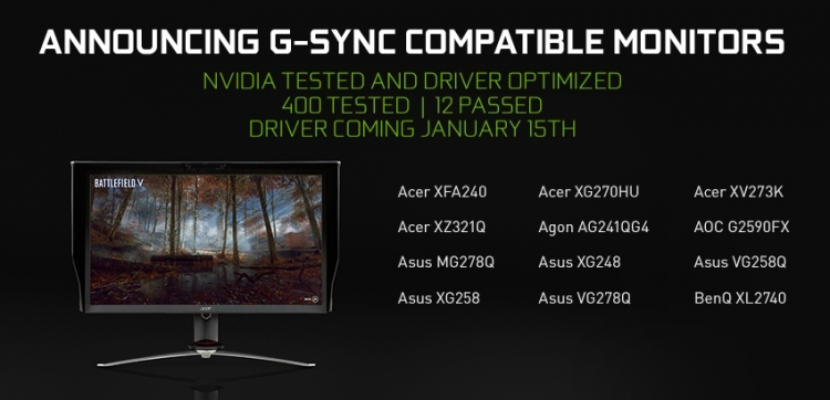 "MSI опубликовала список мониторов с поддержкой Adaptive-Sync на видеокартах NVIDIA"""