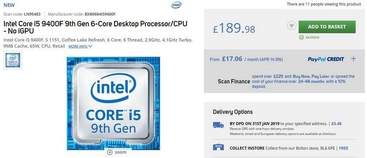 """Продавцы оценивают Core i9-9900KF без встроенной графики дороже обычного Core i9-9900K"""""""