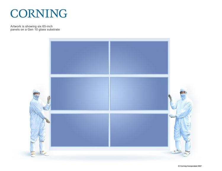 Неразрезанная подложка для LCD поколения 10G (Corning)