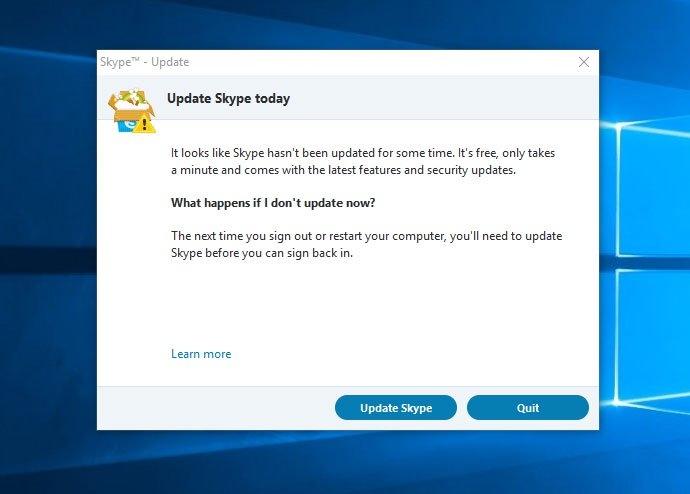 Skype Classic официально больше неподдерживается Microsoft