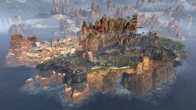 На острове для королевской битвы в Apex Legends есть всё, включая окаменелости гигантского динозавра