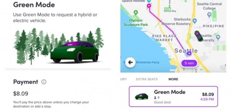 """Сервис Lyft предлагает клиентам возможность заказа поездки на гибриде или электромобиле"""""""