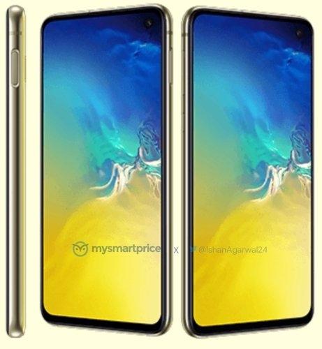 """Фото: Galaxy S10e в ярко-жёлтом исполнении и некоторые подробности о серии"""""""