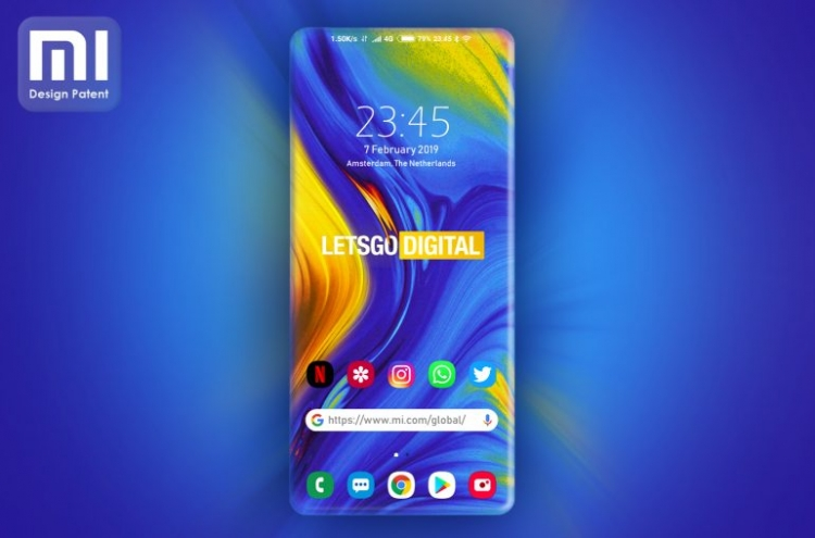 """Xiaomi обошла Samsung, загнув все 4 стороны экрана, но лишь в патенте"""""""