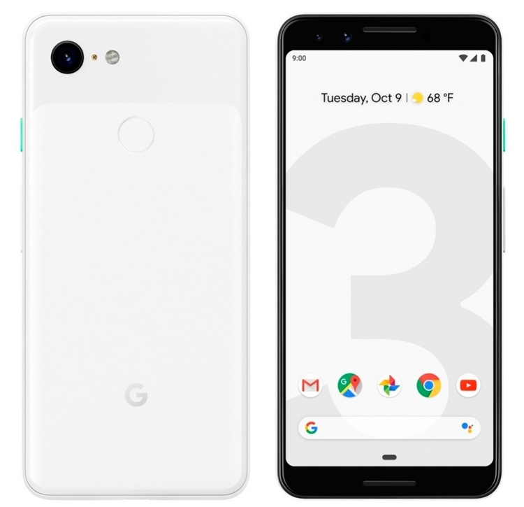 Google Pixel 3 - as you can see, without cutting
