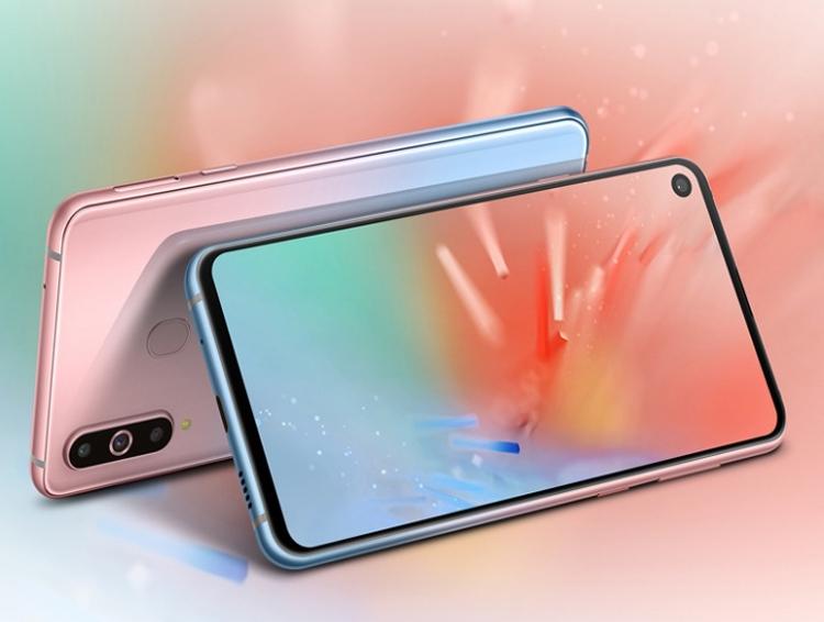 """Смартфон Samsung Galaxy A8s предстал в градиентном исполнении Unicorn Pink"""""""