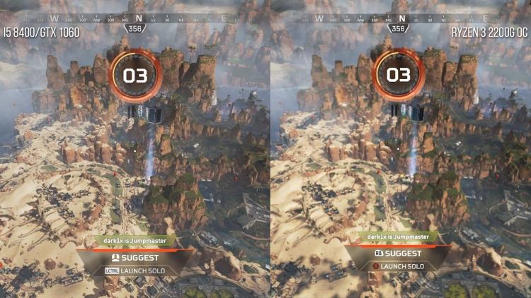 Apex Legends может исполняться на Ryzen 3 2200G при 60 кадрах