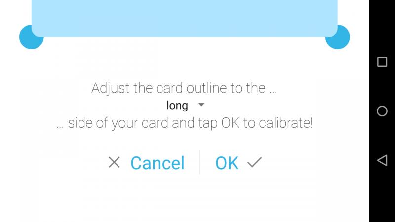Калибровка с помощью кредитной карты